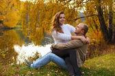 História de amor de outono — Fotografia Stock