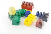 Color components of child's meccano — Stock Photo