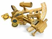 Old bronze sextant — Stock Photo