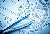 工業設計図 — ストック写真