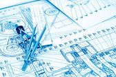 Industrial drawing — Stock Photo