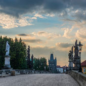 Prague ,Charles bridge — Stock Photo