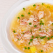 Chicken soup with vegetables and rice — Stock Photo #75651973