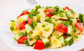 Pasta salad with tomato and cucumber — Stock Photo