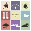 Weather icons — Stock Vector #52535429