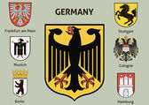 Coat of arms. Cities in Germany — Stock Vector