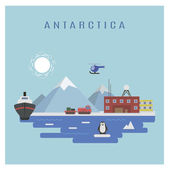 Antarktika peyzaj — Stok Vektör