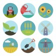 Farm  flat icons — Stock Vector #61633483