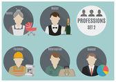 Profession people. Set 2 — Stock Vector