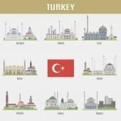 Cities of Turkey — Stock Vector