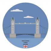 Tower bridge, London. England famous place — Stock Vector