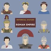 Set of historical avatars. Roman Empire — Stock Vector