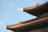 Roof statue in Forbidden City — Stock Photo