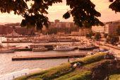 Ships in old port in Oslo — Foto Stock