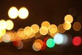 Abstract lights, flash , night city — Stock Photo