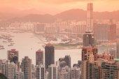 Vista aérea de Hong Kong — Fotografia Stock