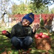 Little boy with apples — Stock Photo #56220397