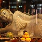 Buddha statue in Jade Buddha temple — Stock Photo #56220443