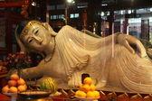 Buddha statue in Jade Buddha temple — Stock Photo