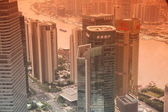 Aerial view of Shanghai skyscrapers — Stock Photo
