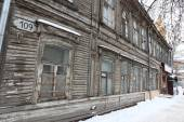 Buildings at winter in Samara, Russia. — Foto de Stock