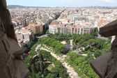 The aerial view Barcelona — Stok fotoğraf