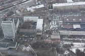 Letecký pohled na město Moskva — Stock fotografie