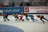 Korta spår speedskating sportsmen — Stockfoto