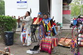Performance of street musicians in VDNH — Stock Photo
