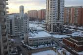 Residential district with new buildings in Moscow — Stock Photo