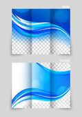 Tri-fold brochure template design — Vector de stock