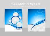 Flyer template back and front design — Stock Vector