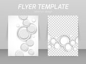 Flyer back and front design template — Vecteur
