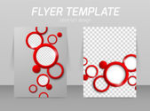 Flyer template design — Stock Vector