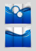 Tri-fold brochure template design — Stock Vector