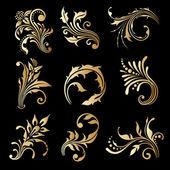 Vector set of vintage decorative elements. — ストックベクタ
