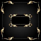 Vector conjunto de elementos decorativos vintage. — Vector de stock