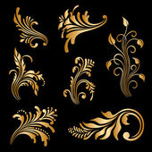 Vector set of vintage decorative elements. — Stock Vector