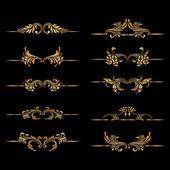 Vector set of vintage decorative elements. — Stock Vector