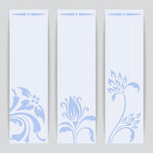 Vector set greeting or invitation cards. — 图库矢量图片