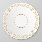 Vektor guld dekorativa plattan. — Stockvektor