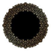 Vector art nouveau frame. — Stock Vector