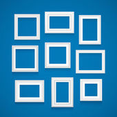 Vector set of white frames. — Stock Vector