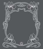 Vector art nouveau ornament. — Stock Vector
