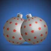银色圣诞球 — 图库矢量图片