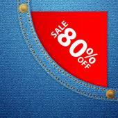 джинсовый карман и продажа восемьдесят off — Cтоковый вектор