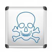 Whiteboard danger — Stock Vector