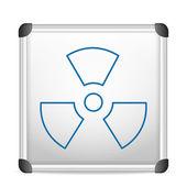 Whiteboard radiation — Stockvektor