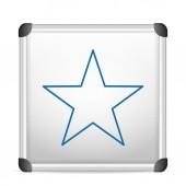 Whiteboard star — Vettoriale Stock