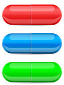 Cápsulas comprimidos — Vetor de Stock